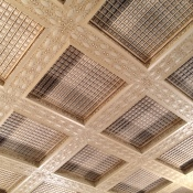 Restored Plaster Ceiling Tiles, Madlener House